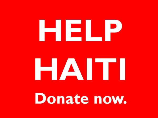 Help Haiti! Donate now!