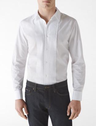 Calvin Klein tuxedo french cuff sport shirt