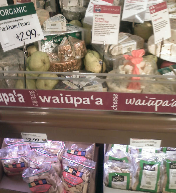 Dairy lovers, take note: waiūpa'a means cheese.