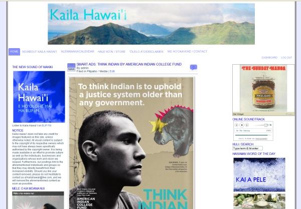 Kaila Hawai'i - Site Redesign